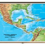 Central America Caribbean Physical Classroom Map From Academia Maps
