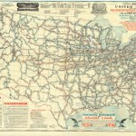Historical Map Of Us Proposed Roads Highways 1915