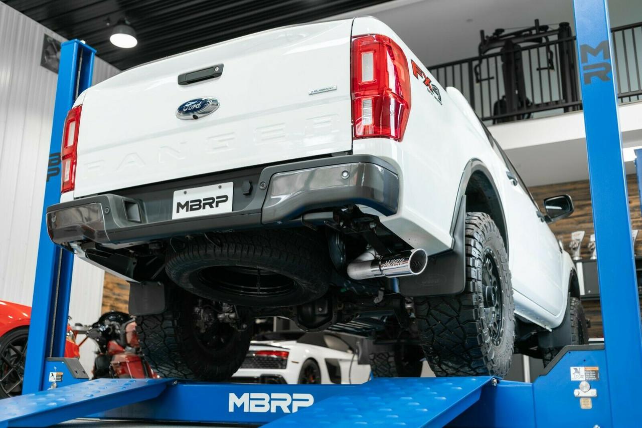 mbrp 3 black exhaust for 2019 2020 ford ranger 2 3l ecoboost s5227blk