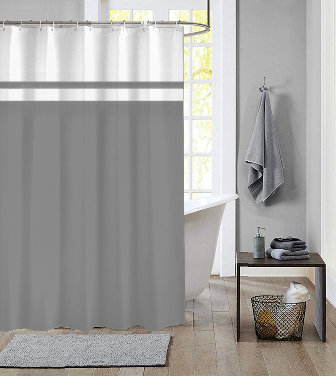 extra long shower curtain 72 x 78 inch dutch house polyester fabric simply gray