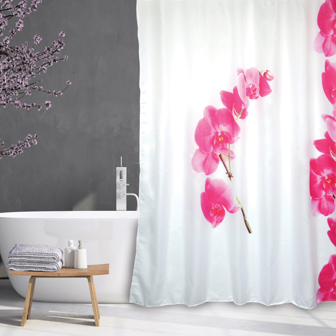 extra long shower curtain 72 x 78 inch msv france polyester fabric lanyu white