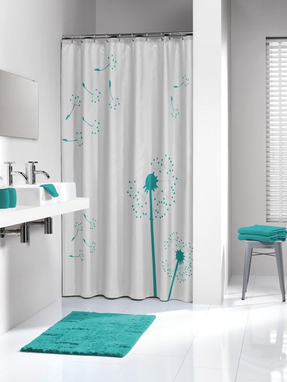 extra long shower curtain 72 x 78 inch sealskin vento aqua fabric