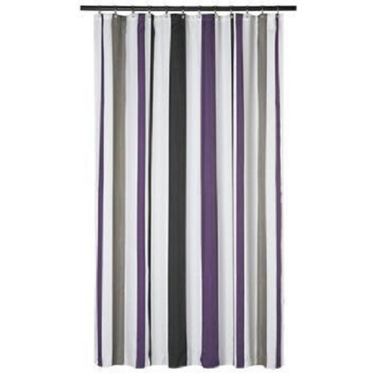 extra long shower curtain 72 x 78 inch gamma purple and gray stripes fabric