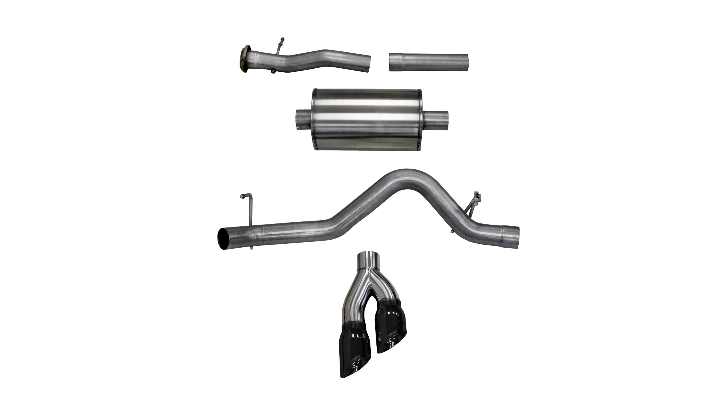 corsa 3 0 inch cat back sport single side exit exhaust 4 0 inch black tips 17 present colorado canyon 3 6l v6 128 inch 140 5 inch wheelbase stainless