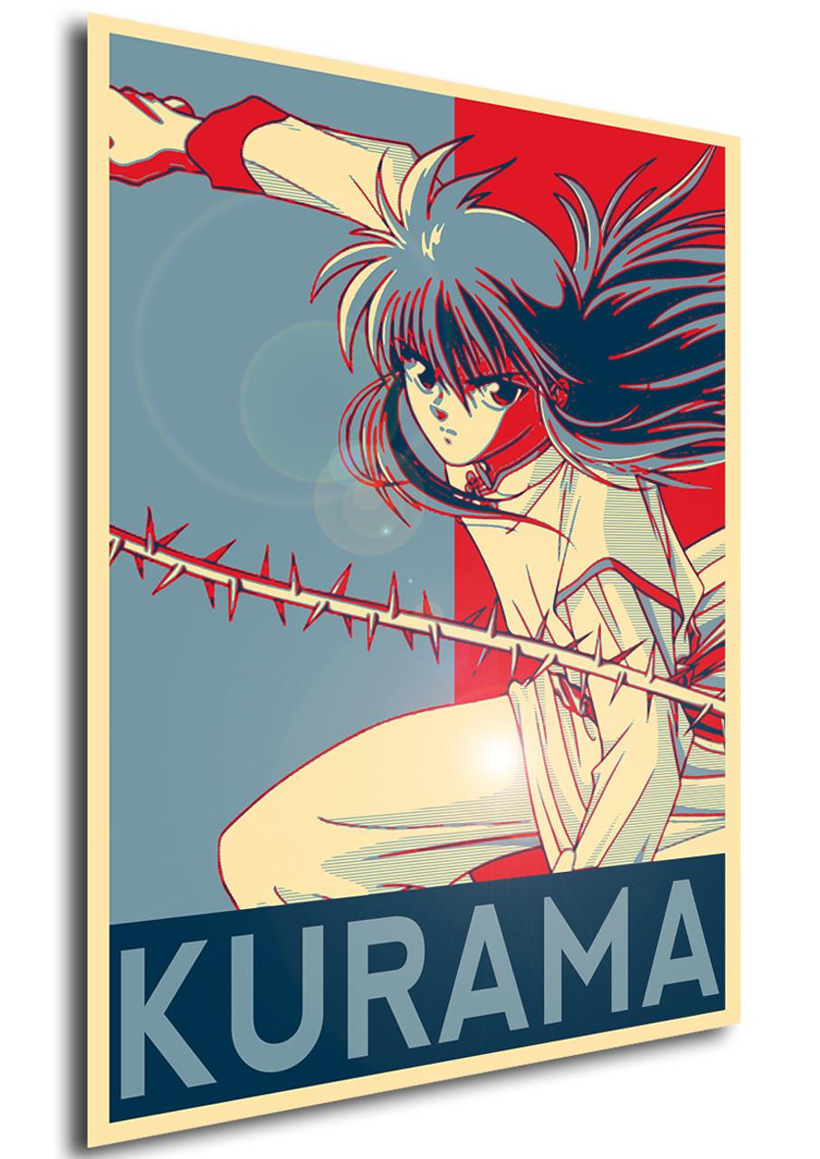 poster propaganda yu yu hakusho kurama