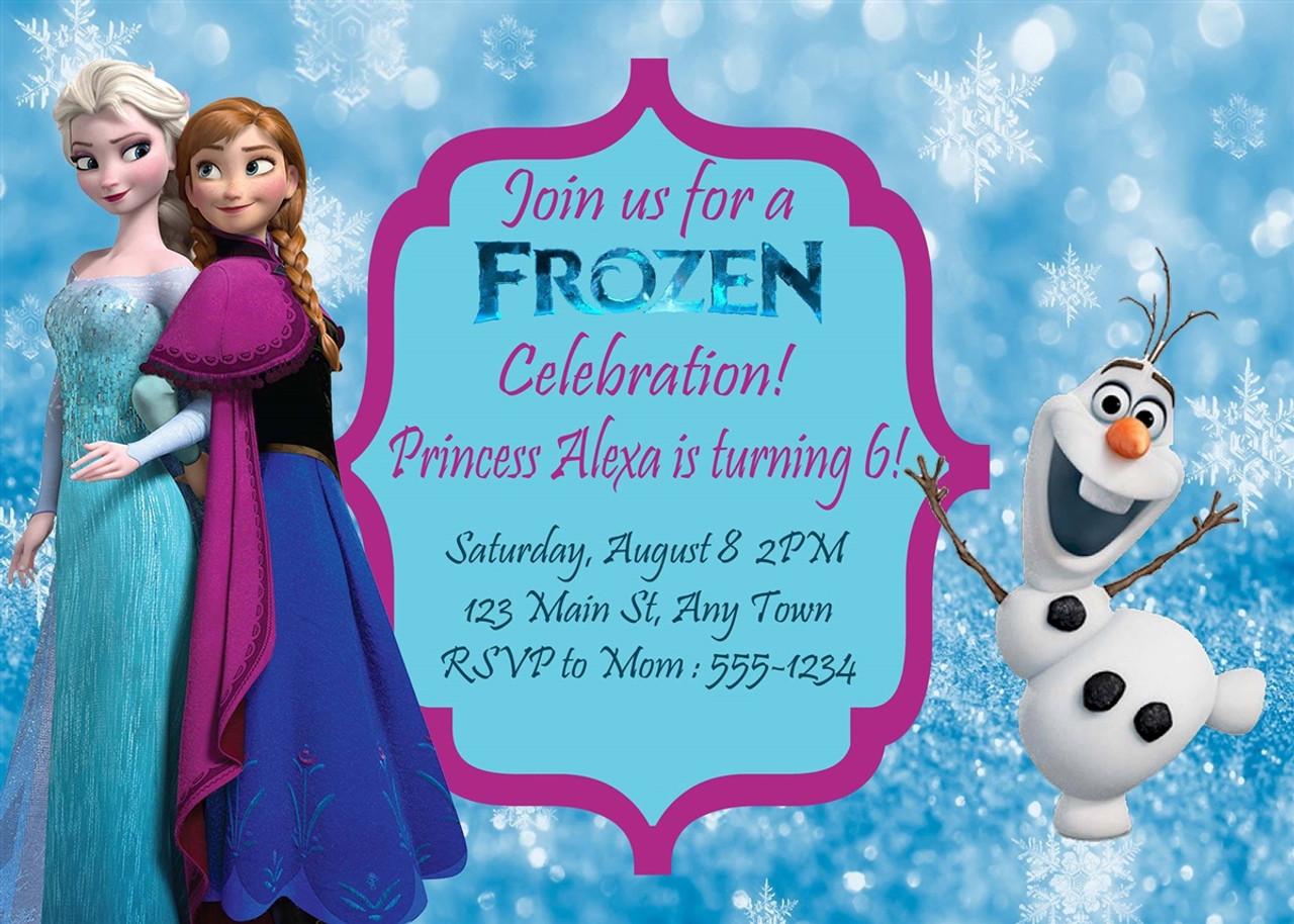 frozen birthday invitation 1