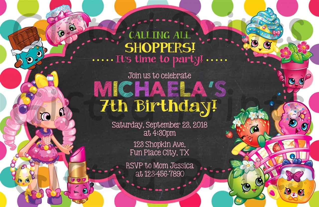 shopkins birthday invitation horizontal