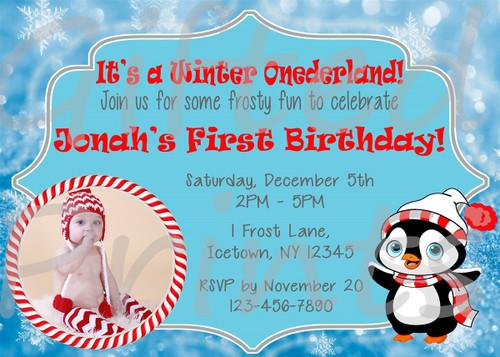 birthday invitation winter onederland