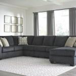 The Eltmann Slate Laf Sofa With Corner Wedge Armless