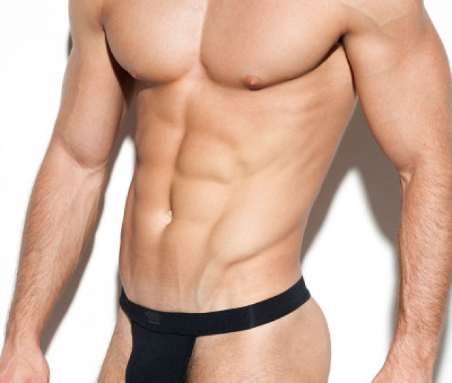 10 Black Es Collection Second Skin Basic Thong Un276 Side View Topdrawers Underwear