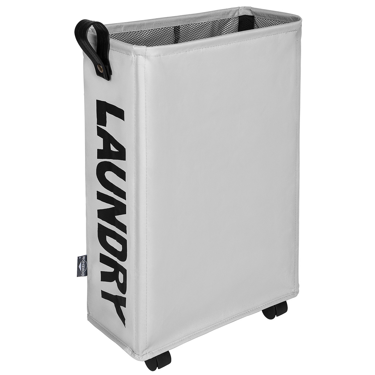 Dokehom Dka0210gym Large Laundry Basket With Lather Handle And Wheel 3 Colors M And L Collapsible Fabric Laundry Hamper Foldable Clothes Organizer Folding Washing Bin Grey M Ningbo Imotech Technology Co Ltd
