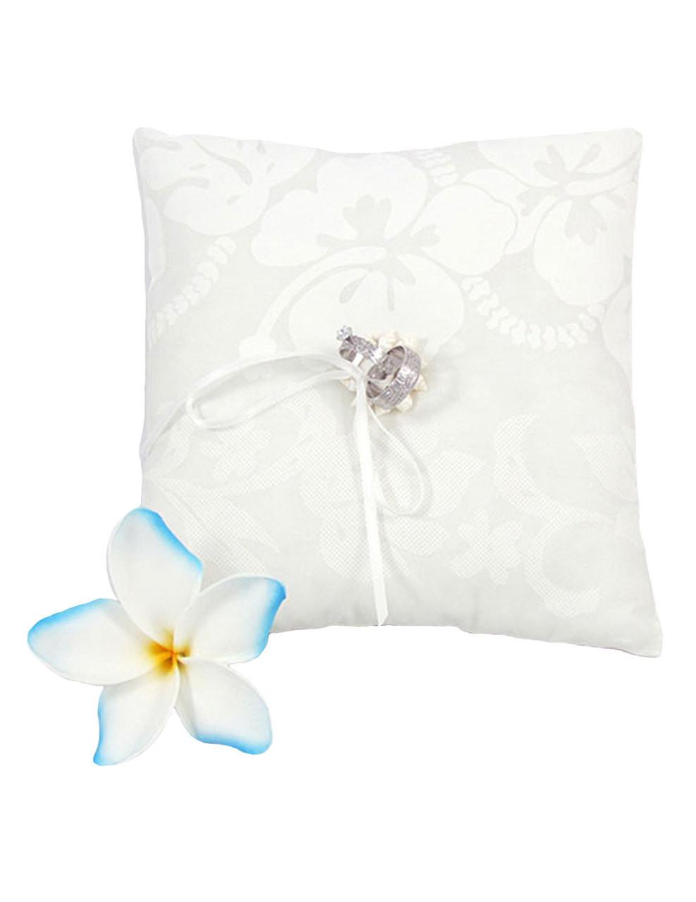 rings bearer pillow hawaiian hibiscus