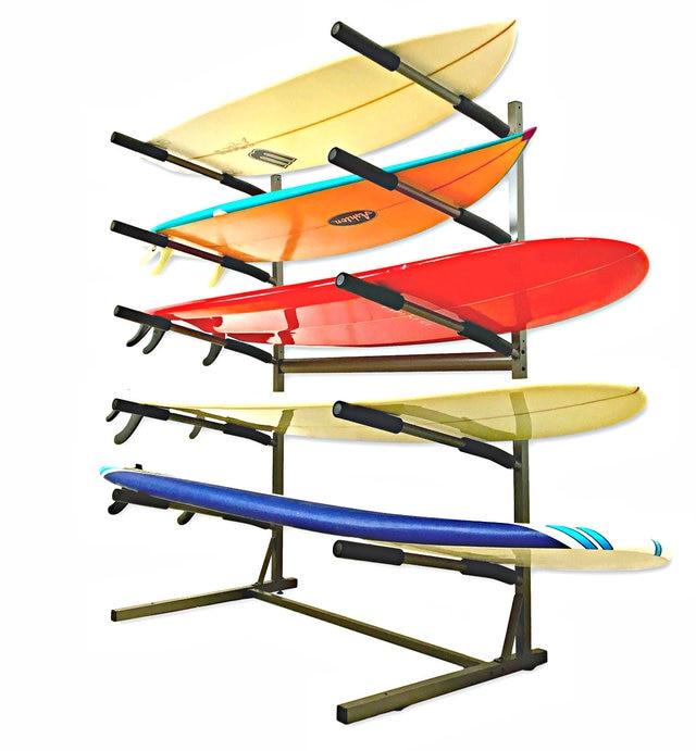 freestanding surfboard rack surf home