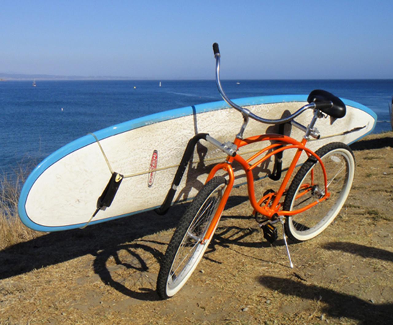 removable longboard surfboard bike rack