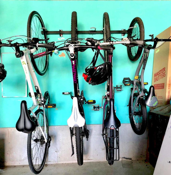 https www storeyourboard com 5 bike wall storage rack g system garage organizer