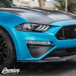 Front Bumper Roush Style Accent Overlay Satin Black 2018 2019 Ford Mustang Gt Premium Auto Styling