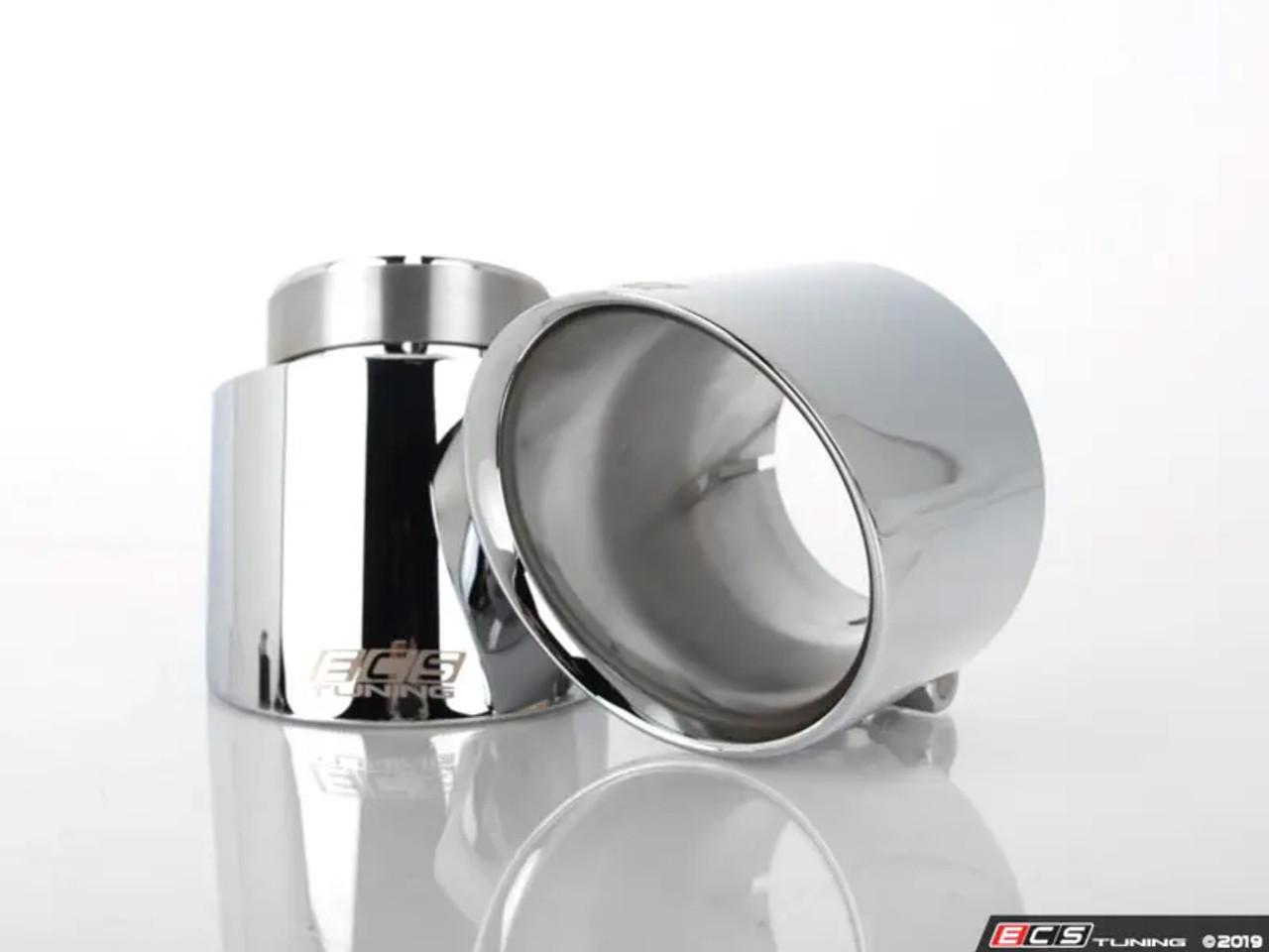 ecs tuning 4 oe fit exhaust tips chrome pair mk6 mk7 gti