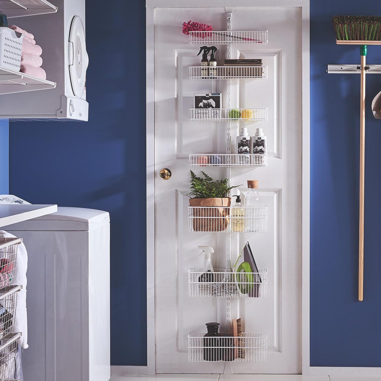 elfa custom utility laundry door rack solution
