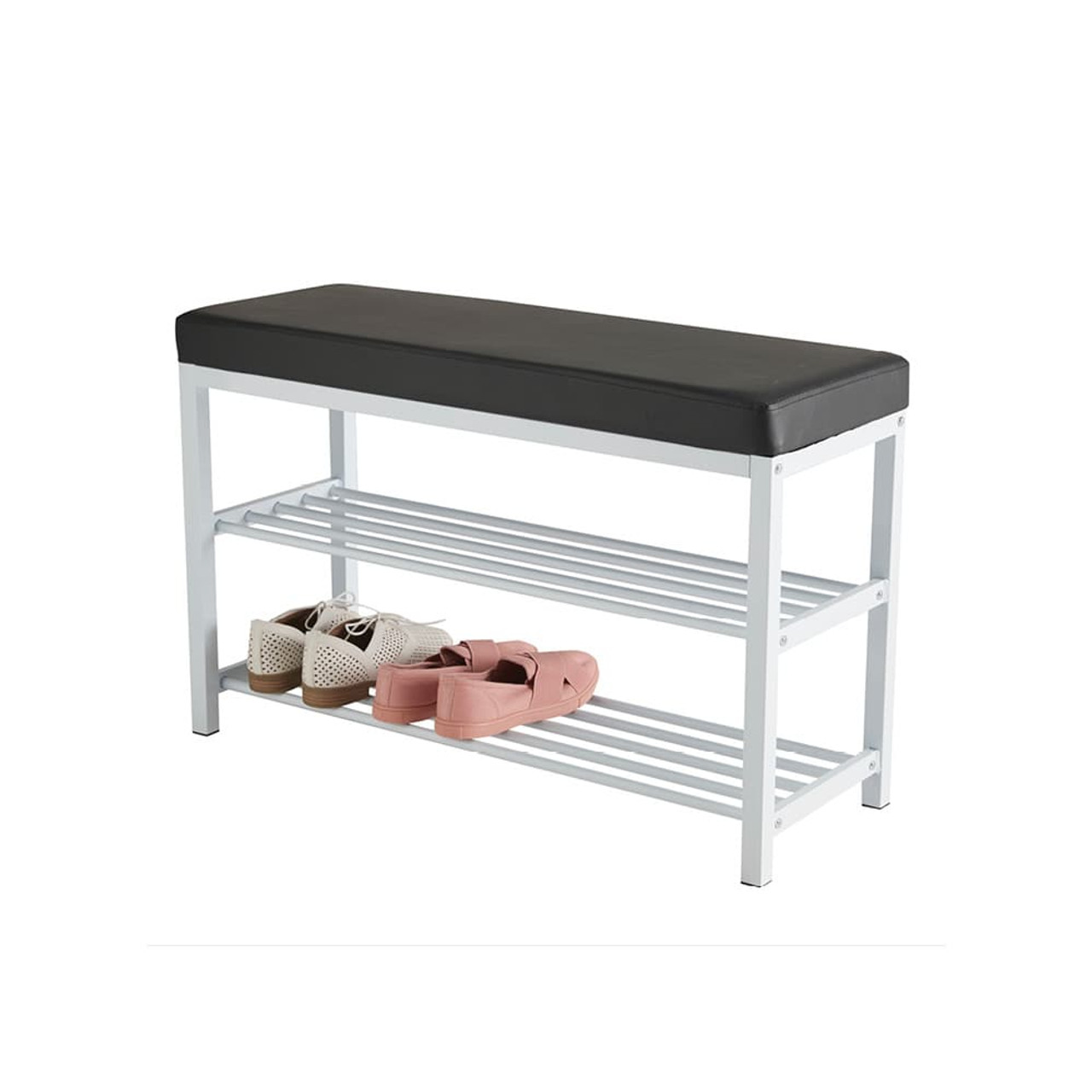howards 2 tier shoe rack with seat