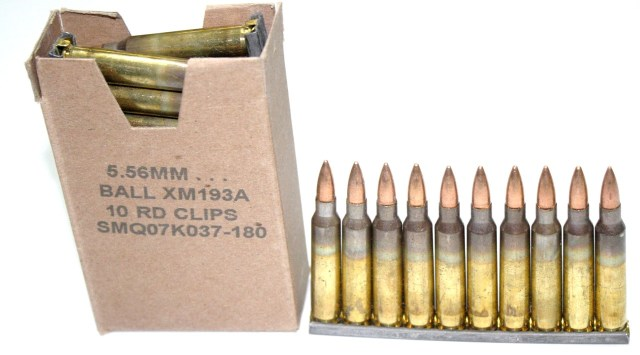 Lake City 5.56mm Ammunition 30rd box on stripper clips