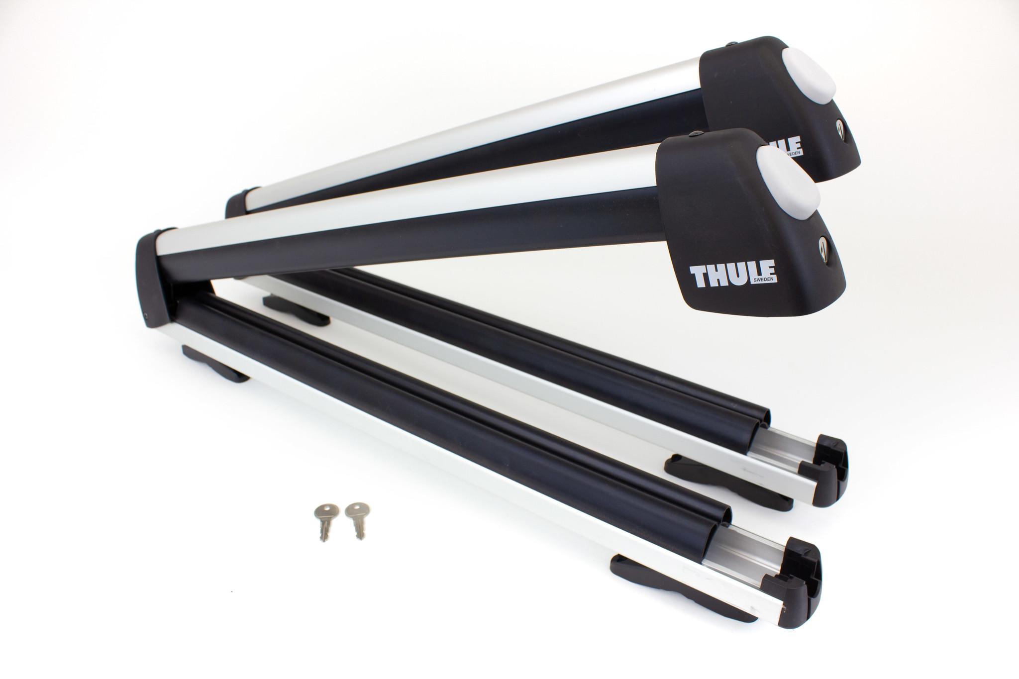 thule 91725u universal flat top 6 ski carrier
