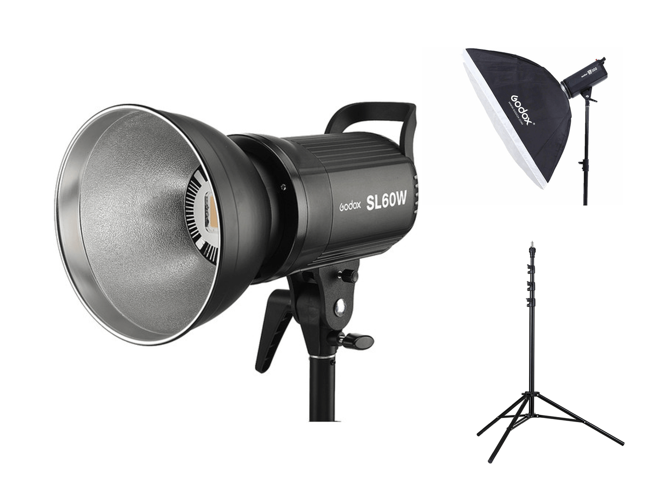 godox sl 60 led video light kit with stand softbox