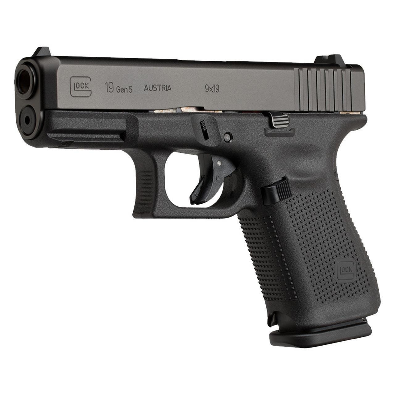 Glock PA195S202 19 Gen 5 Pistol 9mm 4in 15rd Handgun ...