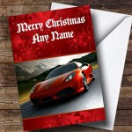 Ferrari Personalised Christmas Card The Card Zoo