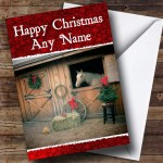 Horse In Stable Christmas Card Personalised The Card Zoo
