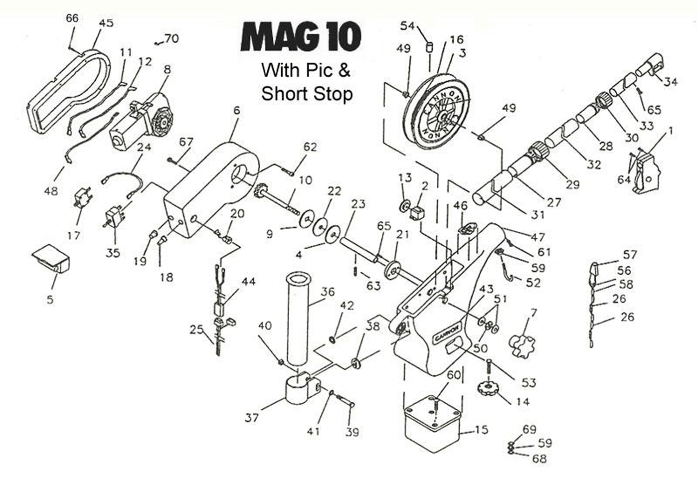 Order Cannon Mag 10 Pre Models Electric Downrigger