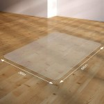 1 6mm Clear Pvc Office Chair Mat For Hardwood And Tile Floors Protective Floor Mat For