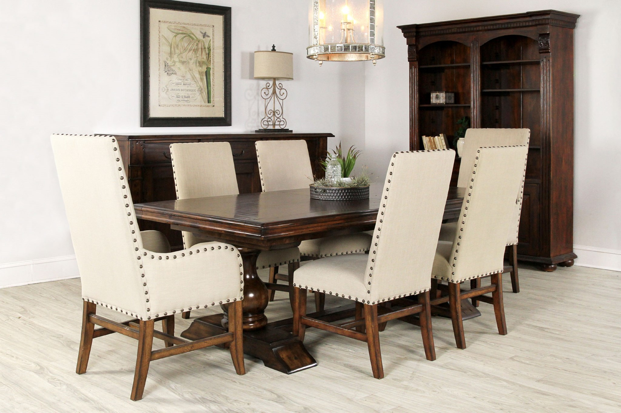 Transitional Contemporary Tuscan Old World Dining Chairs