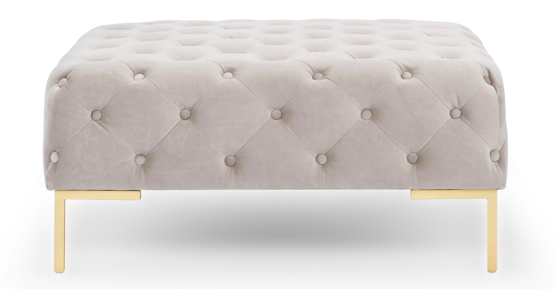 umbria 36 square fabric ottoman thunder velvet