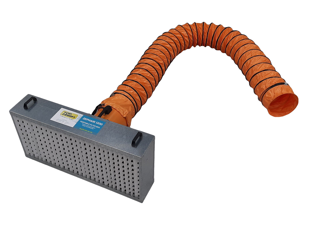 complete portable overspray ventilation system filter box fan ducting