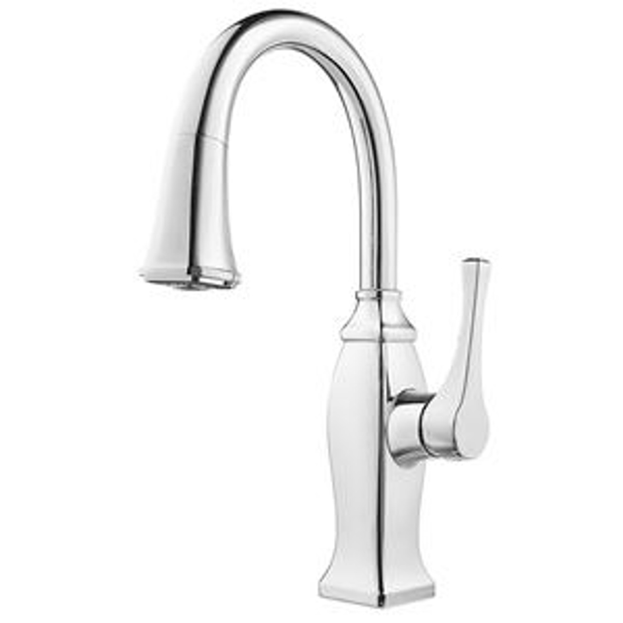 pfister gt572 bfc briarsfield metal 1 lever handle pulldown spray bar prep kitchen faucet polished chrome