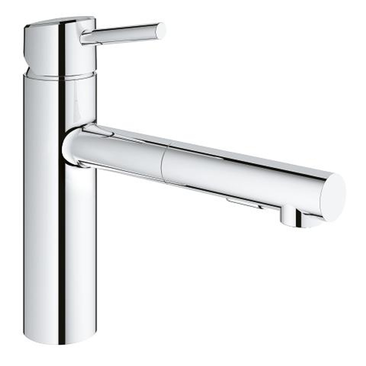 grohe concetto single handle kitchen faucet chrome finish