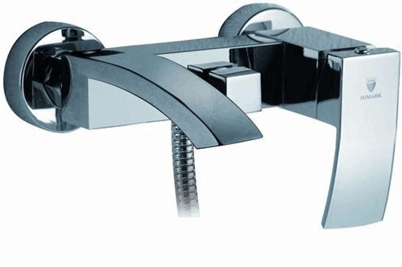 royal fall 2 way wall mount tub faucet with handshower brushed nickel