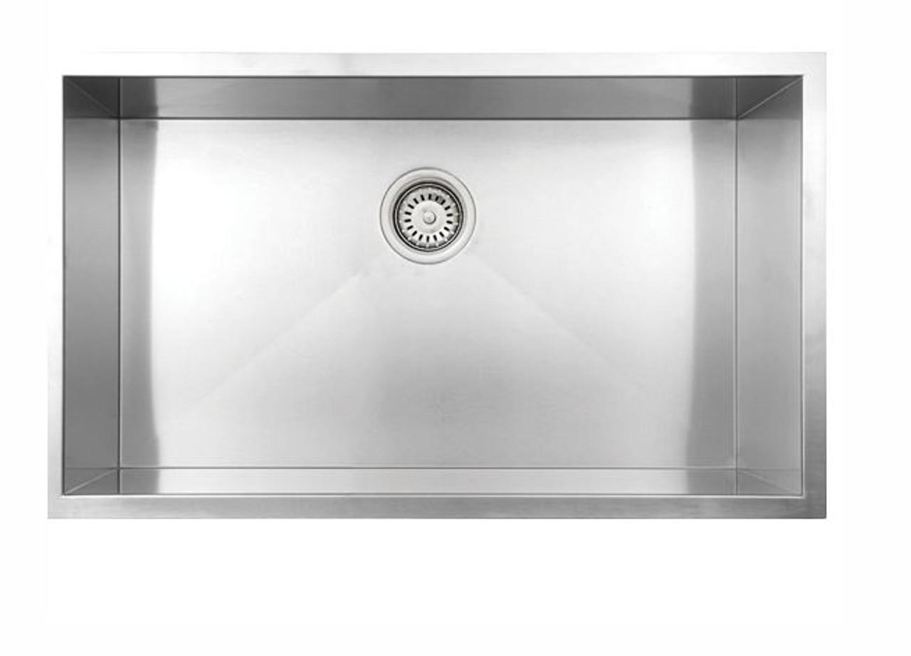 vogt wolfsberg 18z undermount kitchen single sink 32 x 18