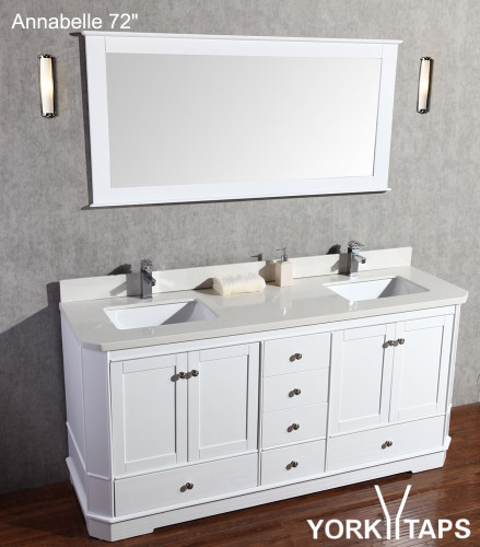 72 x 22 d quartz or marble counter top with double sinks polished top only