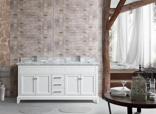 bayview 62 double sink bathroom vanity white