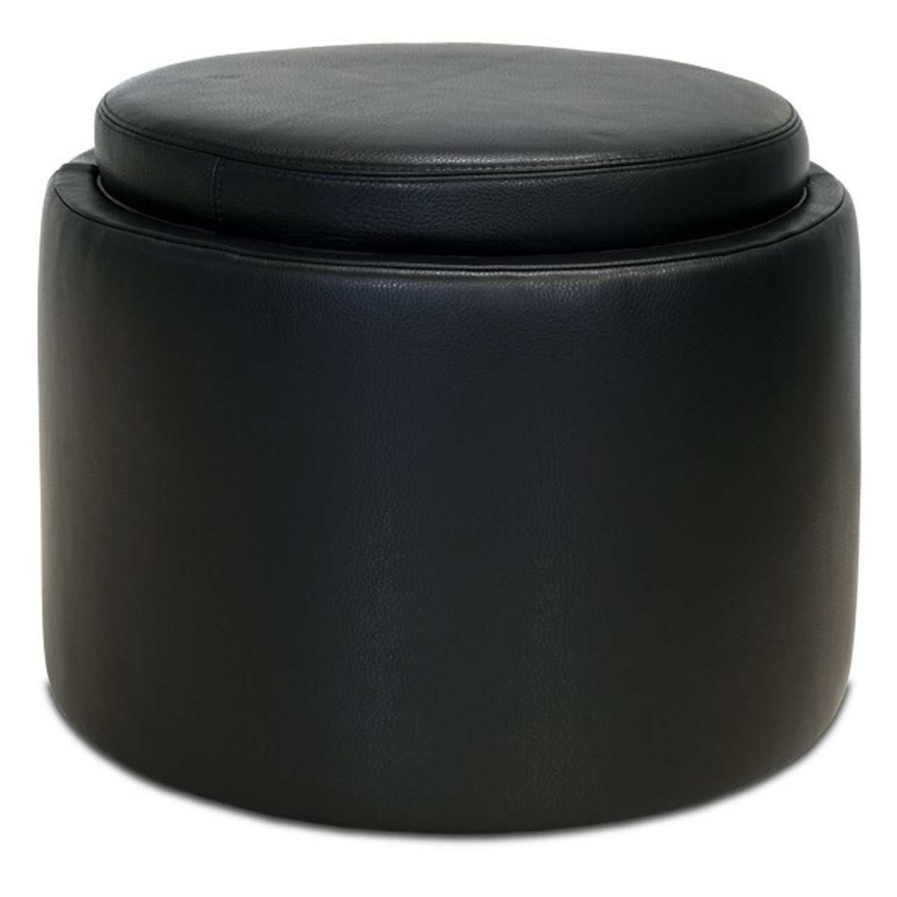 uno round ottoman black