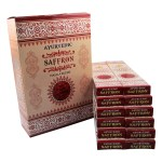 Ayurvedic Saffron Masala Incense Sticks Pack Of 12 Boxes 15gms Each