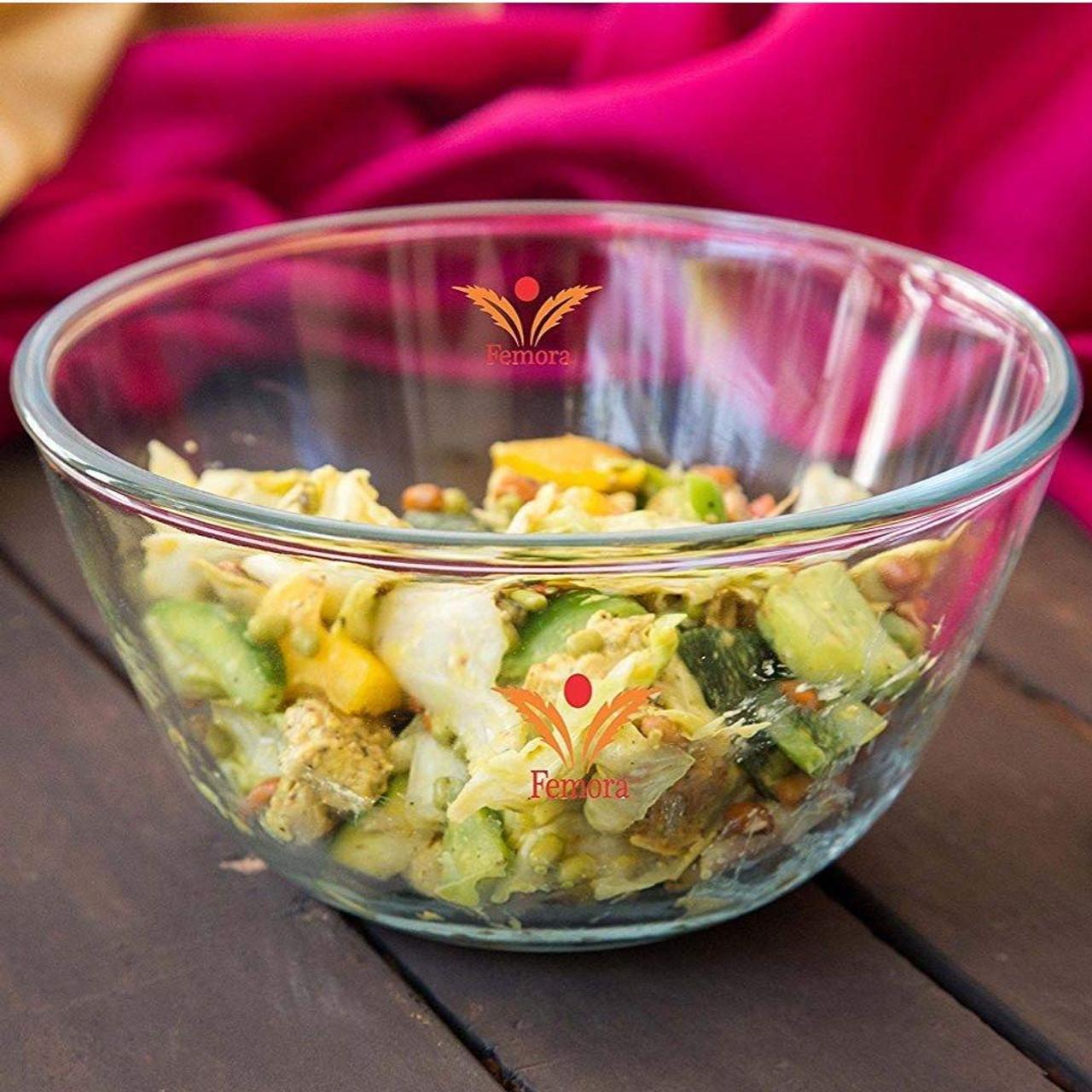 femora borosilicate glass microwave safe mixing bowl 3600 ml