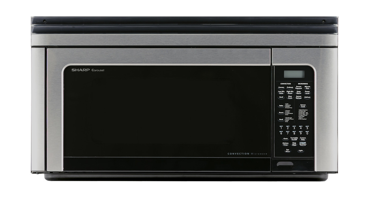 1 1 cu ft 850w sharp stainless steel convection over the range microwave oven r1881lsy