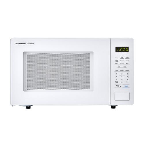 1 1 cu ft 1000w sharp countertop white microwave smc1131cw