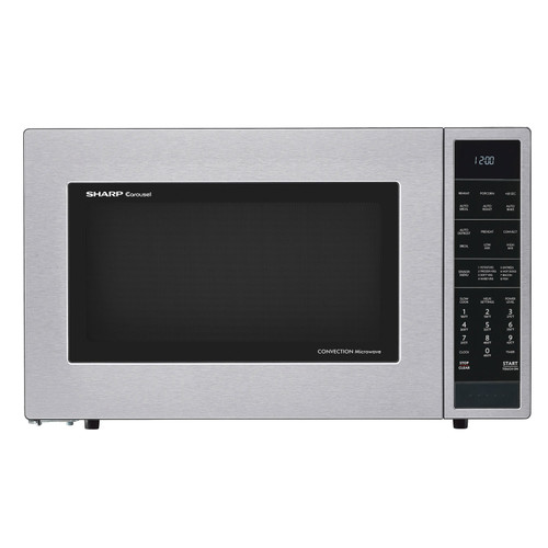 1 5 cu ft 900w sharp stainless steel carousel convection microwave oven smc1585bs