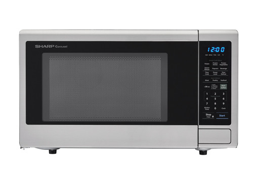 2 2 cu ft 1200w stainless steel countertop microwave oven smc2242ds
