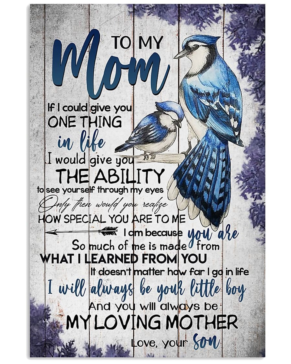 customized to my mom from son print poster wall art home decor best mother s day gift