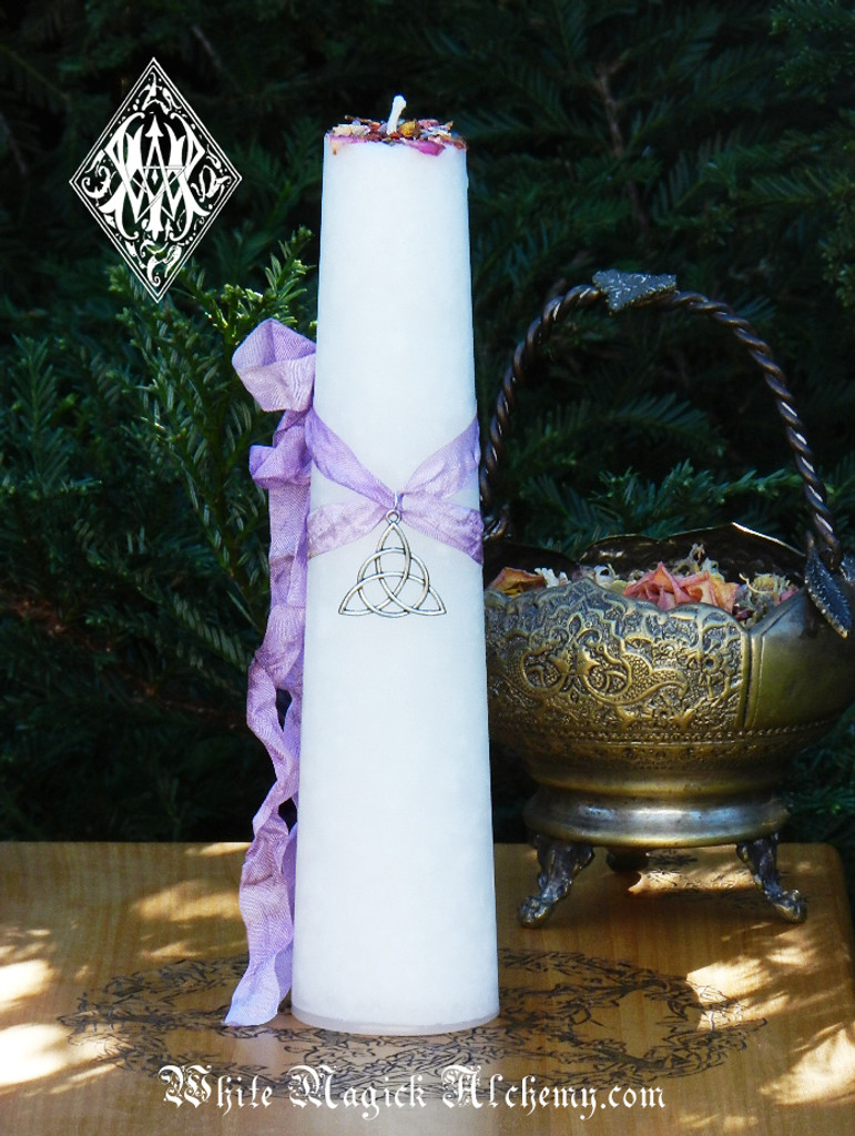 Trinity Goddess Triquetra Torch Light Candle