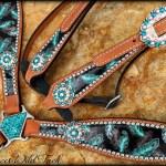 Feather Tack Set Round Conchos Deuces Wild Tack Llc